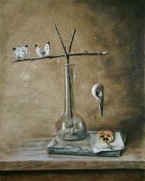 Realismus, Spechtkopf, Surreal, Vase
