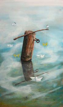 Wasser, Schiff, Wolken, Romantik