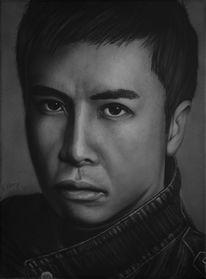 Portrait, Monochrom, Acrylmalerei, Fotorealismus