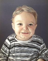 Baby, Portrait, Malerei