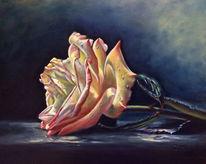 Gelb, Gemälde, Stillleben, Ölmalerei