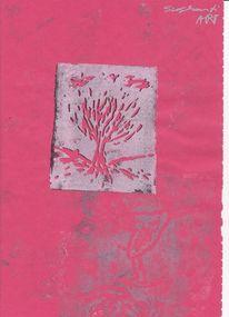 Formen, Baum, Farben, Drucktechnik