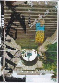 Collage, Drucktechnik, Experimentell, Farben
