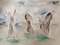 Tanz, Bewegung, Aquarellmalerei, Aquarell