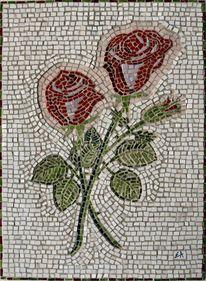 Rose, Mosaik, Stillleben, Kunsthandwerk