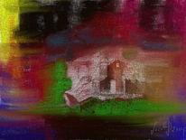 Altes haus, Digitale kunst, Haus