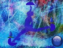 Flucht, Malerei, Digitale malerei