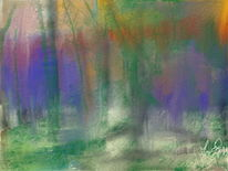 Wald, Farben, Malerei, Blumen