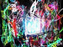 Farben, Kerzenlicht, Malerei, Digitale malerei