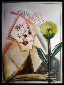 Abstrakt, Blumen, Pigmente, Portrait