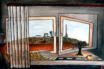 Landschaft, Fenster, Inselsberg, Blick