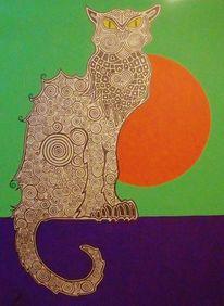 Katze, Toulouse lautrec, Malerei