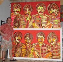 Beatles, John lennon, Malerei, Doppelt