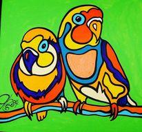 Vogel, Tiere, Grün, Liebe