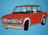 Auto, Oldtimer, Bmw, Malerei