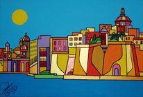 Malta, 3cities, Senglea, Malerei