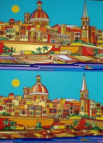 Birgu, Valletta, Malta, Malerei
