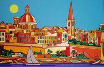 Sonne, Valletta, Meer, Malta