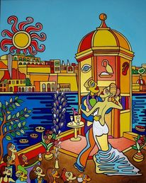 Valletta, Senglea, Hochzeit, Malerei