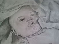 Kinder, Baby, Malerei, Menschen