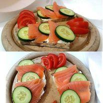 Fisch, Brot, Lachs, Essen