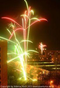 Feuerwerk, Sylvester, Großstadt, Rakete