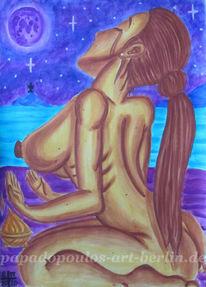 Himmer, Brust, Wasser, Mond