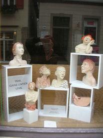 Büste, Ausstellung, Frau, Portrait
