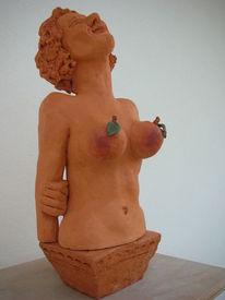 Apfelfrau, Locken, Apfel, Brust