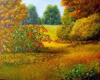 Vogelbeeren, Baum, Laub, Herbst
