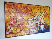 Abstrakt, Gemälde, Vito gaarin, Malerei