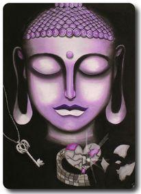 Wachstum, Spirituell, Mauer, Buddha
