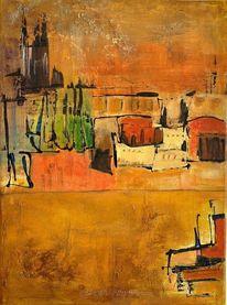 Chalupy, Abstrakt, Acrylmalerei, Malerei