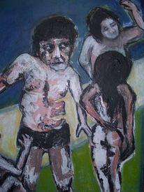 Mann, Frau, Ölmalerei, Malerei