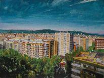 Dach, Barcelona, Spanien, Stadt