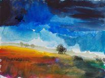 Himmel, Feld, Weite, Landschaft