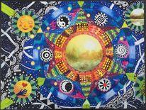 Sonne, Symbol, Landschaft, Stern
