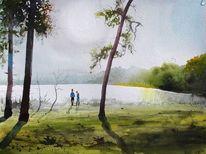 See, Kiefer, Bullensee, Landschaft
