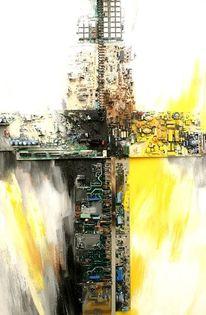 Kreuz, Skulptur, Computer, Mischtechnik