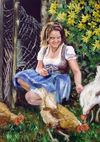Bauernhof, Entwurf, Bayer, Natur