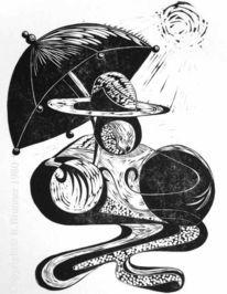 Druckgrafik, Linol, Hochdruck, Incisione su linoleum