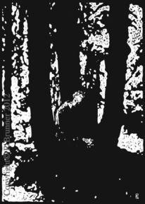 Hochdruck, Incisione su linoleum, Schwarz weiß, Linolschnitt