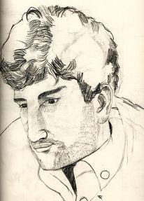 Kohlezeichnung, Portraitzeichnung, Bleistiftzeichnung, Malerei