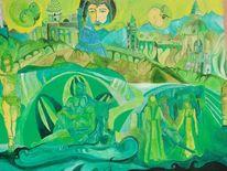 Malerei, Vereinigung, Jesus