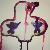 Augen, Herz, Blut, Malerei
