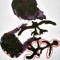 Herz, Blut, Augen, Malerei