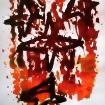 Traurig, Schmerz, Menschen, Malerei