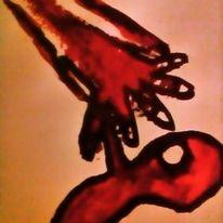 Menschen, Herz, Schmerz, Malerei