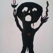 Hände, Schmerz, Herz, Zeichnungen
