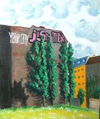 Gebäude, Graffiti kreuzberg, Malerei